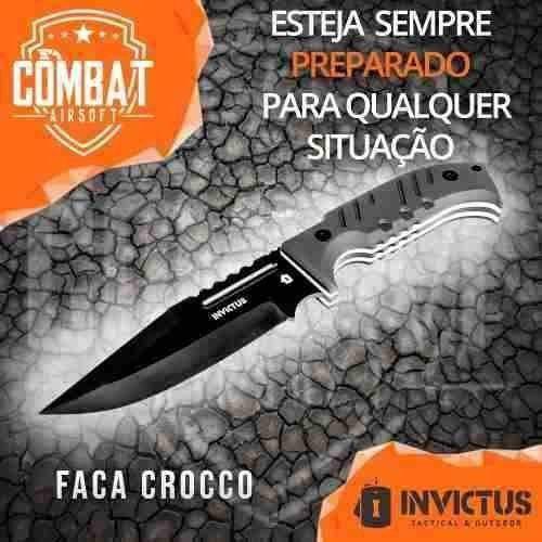 Faca Crocco Invictus Militar Combate Tática