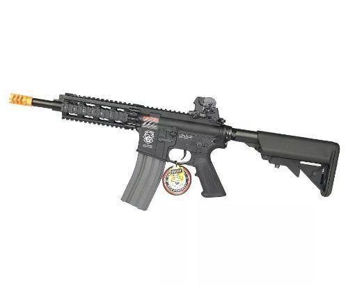 Rifle De Airsoft Gr16 Cqw Rush Blowback Cal 6mm Bivolt - G&g