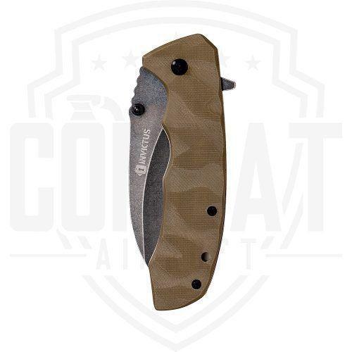 Canivete Tático Invictus Adder Lâmina Aço Escovado