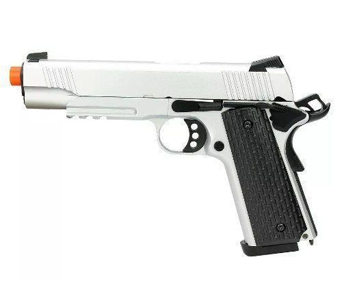 Pistola Airsoft Gbb M1911 Warrior R28 Silver Blowback 6mm  - Combat Airsoft