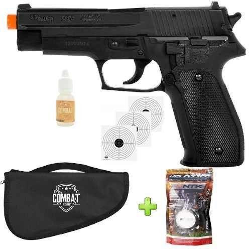 Pistola Airsoft Sig Sauer P226 + Capa + 2000 Bbs + oleo de silicone