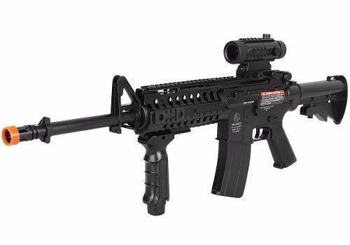 Airsoft Aeg Colt M4a1 Ris + Lanterna + Red Dot Fake Cybergun