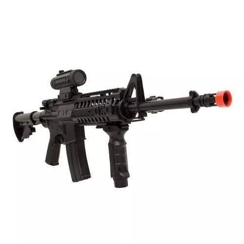 Airsoft Aeg Colt M4a1 Ris + Lanterna + Red Dot Fake Cybergun