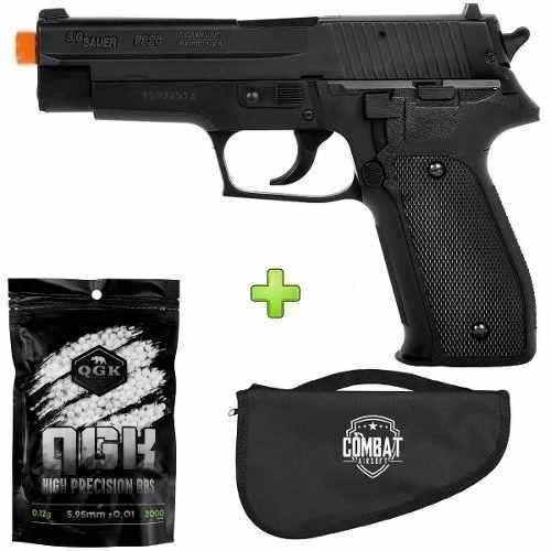 Pistola Airsoft Sig Sauer P226 + Capa + 2000 Bbs
