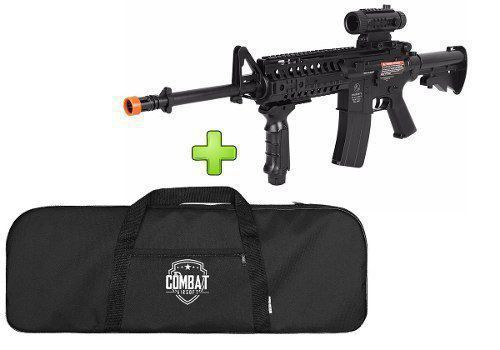 Rifle Airsoft Aeg Colt M4a1 Ris + Lanterna + Red Dot + Capa