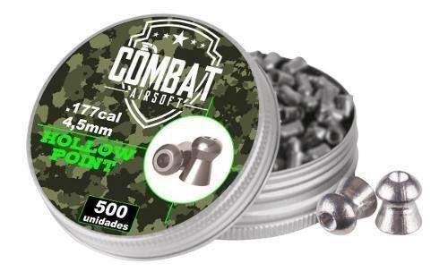 Chumbinho Combat 4,5 Mm Hollow Point 500 Pellet / Pote