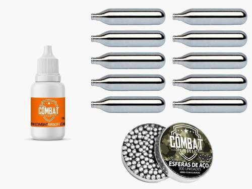Kit Oleo Silicone + 10 Cilindros De Co2 + 300 Esferas de aço