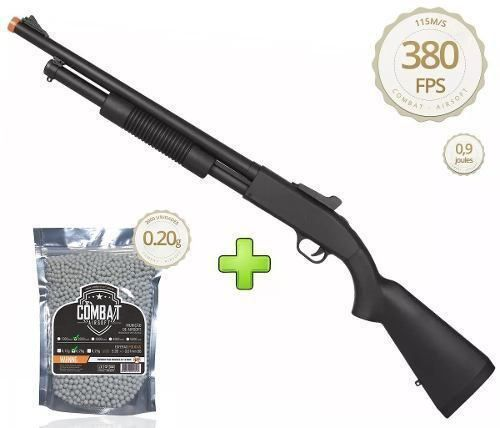 Shotgun Spring Airsoft Rifle Cyma Zm61a 6mm + 2000 Bbs