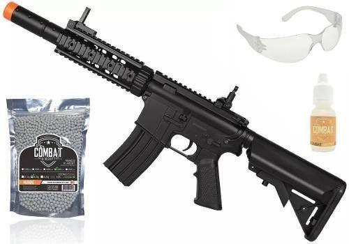 Kit Rifle Elétrico Airsoft Cyma M4a1 Cm513 Bk + Acessórios