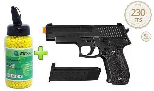 Pistola Airsoft Galaxy G26 Full Metal Spring + 2000 BBs