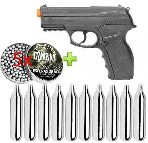 Pistola de Pressão Wingun C11 Rossi 4,5mm CO2 428 FPS + 1500 Esferas + 10 CO2