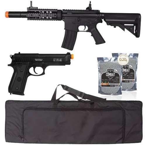 Rifle Elétrico Cyma M4a1 Cm513 + Pt92 Co2 + Bbs + Capa