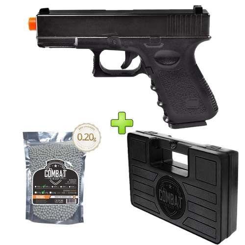 Pistola Airsoft Glock G15 Full Metal Spring + Case + 2000 BBs