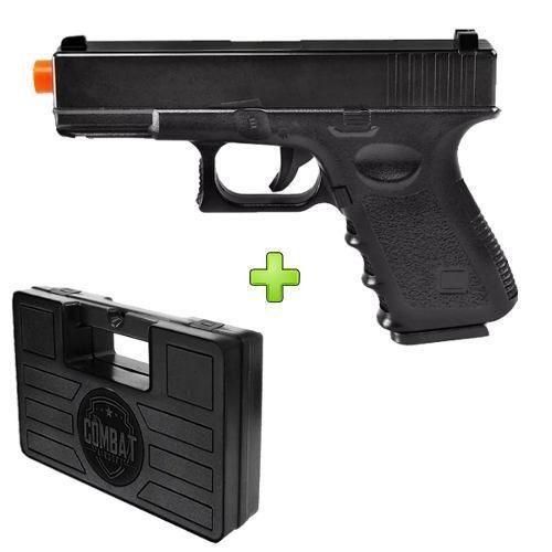Pistola Airsoft Glock G15 Full Metal 6mm Spring + Maleta