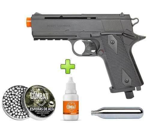 Pistola De Pressão Co2 Wingun W401 Polímero 4,5mm Rossi