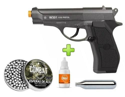 Pistola Pressão Rossi Wingun W301 Full Metal Co2 4.5mm