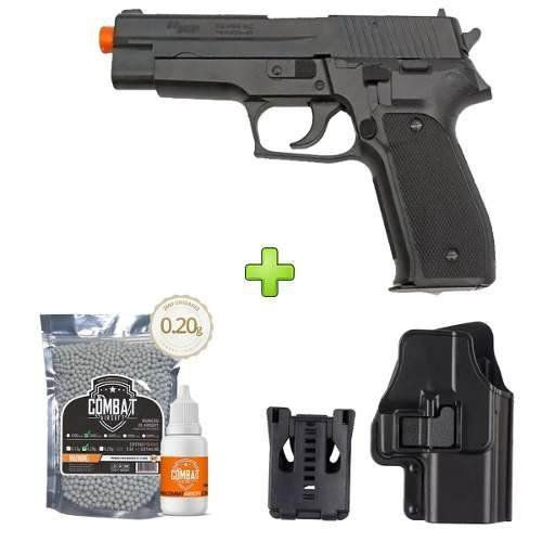 Pistola Airsoft Sig Sauer P226 Training + Coldre + Bbs+ Óleo