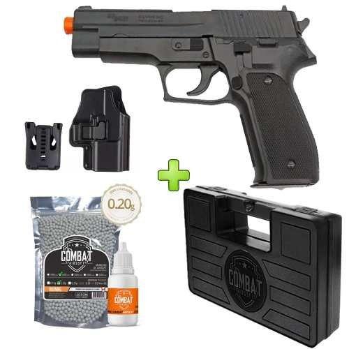 Pistola Airsoft Sig Sauer P226 Ts + Case+ Bbs+ Óleo+ Coldre