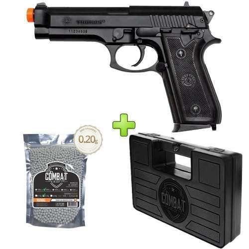 Pistola Airsoft Cybergun Pt92 Spring Abs Cybergun + Case + Bbs
