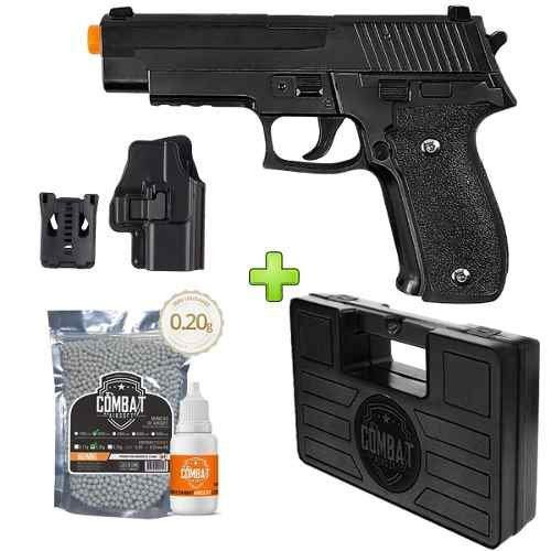 Pistola Airsoft Galaxy G26 Full Metal Spring + Case + BBs + Óleo + Coldre
