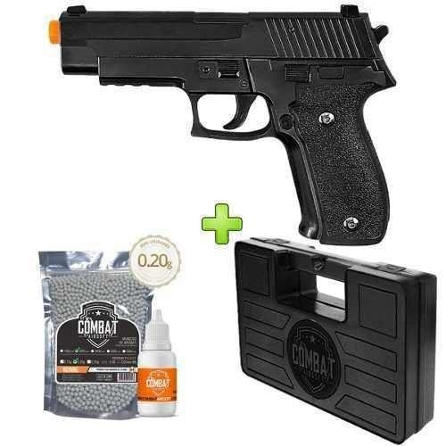 Pistola Airsoft Galaxy G26 Fullmetal Spring + Case+ BBs + Óleo