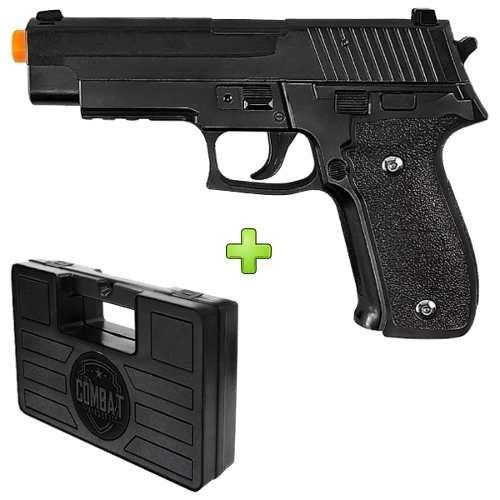 Pistola Airsoft Galaxy G26 Full Metal Spring + Case