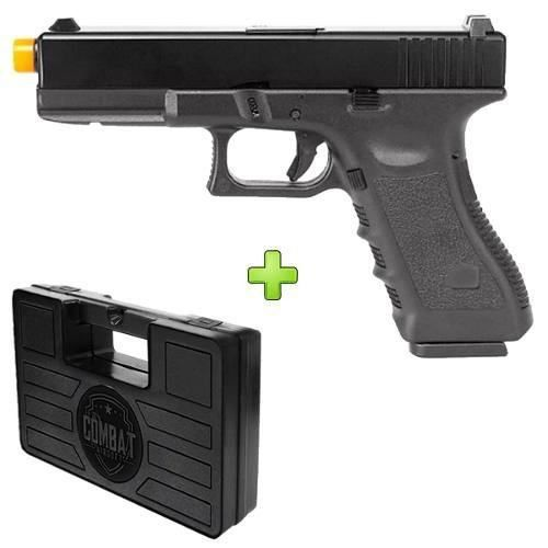 Pistola Airsoft Glock R17 Gbb Slide Metal + Case