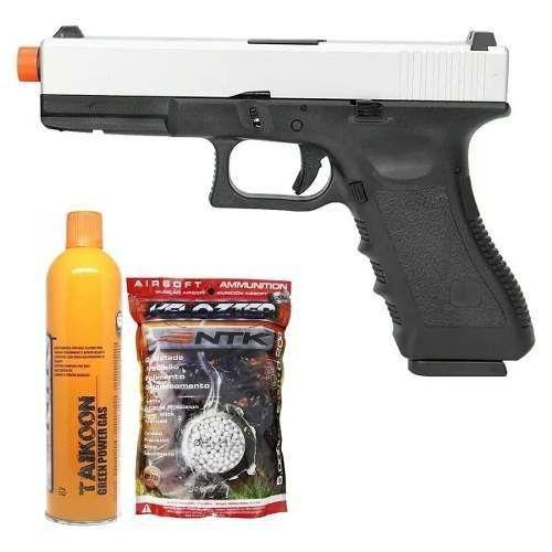 Pistola Airsoft Gbb Glock R17 S Army Armament + Gás + 5000bbs