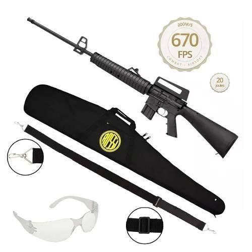 Carabina Pressão Rossi Rifle M-16 R S 5,5 + Bandoleira + Capa