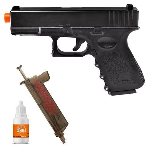 Pistola Airsoft Glock G15 Full Metal 6mm + Speed Loader + Oleo de Silicone