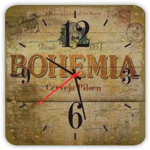 Relógio De Parede Em Madeira Bohemia Vintage