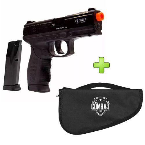 Pistola Airsoft Spring Cybergun PT24/7 Extra Mag Cybergun 6mm + Capa