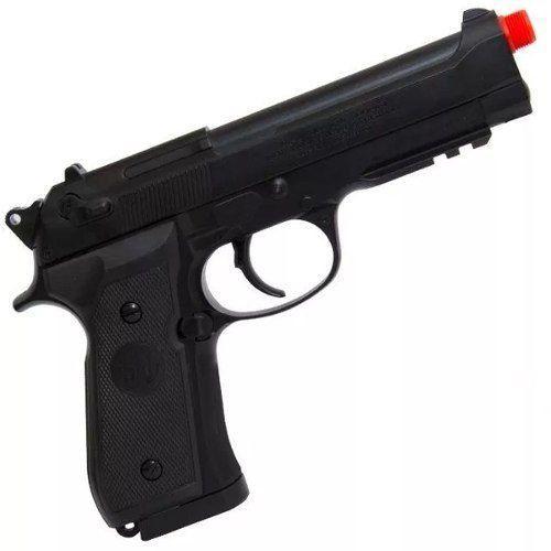 Pistola Airsoft Elétrica Aep Beretta M92 A1 Semi Metal