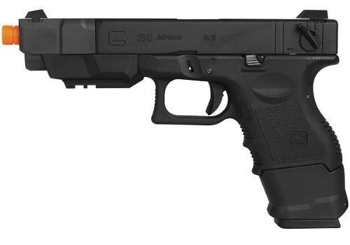 Pistola Airsoft Gbb We Glock G26c Advance Semi-metal