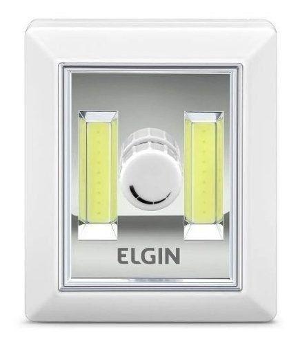 Mini Luminária Button Led Dimerizável 3w 6500k Branca Elgin