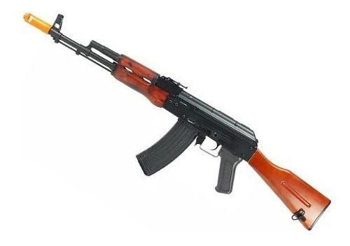Rifle Airsoft Elétrico Aeg Ak74 Fullmetal Madeira Aps Ask201