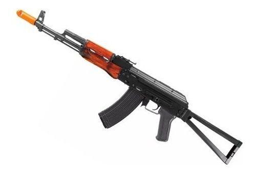 Rifle Airsoft Aeg Ak74m Mount Full Metal Madeira Aps Ask204