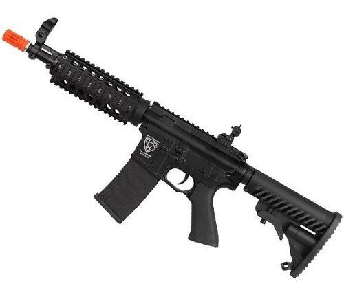 Rifle Airsoft Elétrico Aps M4 Cqb Ris Blowback Metal Asr103