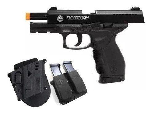 Pistola Airsoft Spring Cybergun PT24/7 Cybergun 6mm + Magazine Extra + Coldre + Porta Mag