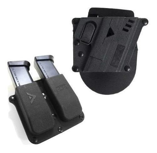 Kit Coldre + Porta Carregador Duplo Polímero Cybergun / Glock