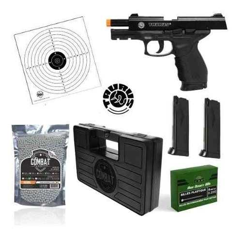 Kit Pistola Airsoft Spring Cybergun 24/7 Extra Mag + BBs + Case Combat