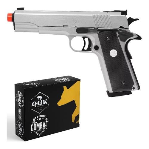 Pistola Airsoft Gbb 1911 MKIV 70 R29-S Silver Fullmetal Blowback 6mm