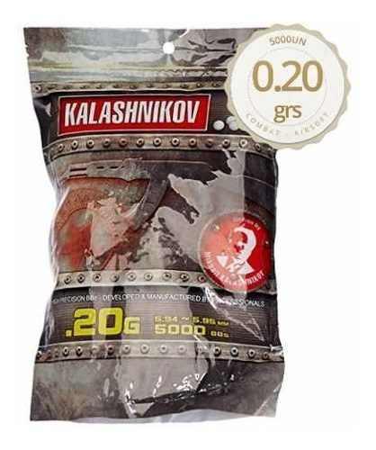 Esfera Plástica Premium Kalashnikov 0,20gr Com 5000 Unidades
