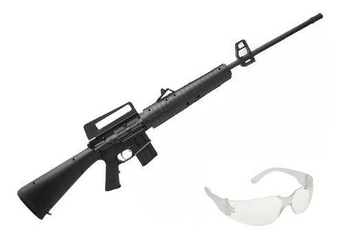 Carabina De Pressão M16-r Gr Nitro 4.5 Rossi Gas Ram 60kg