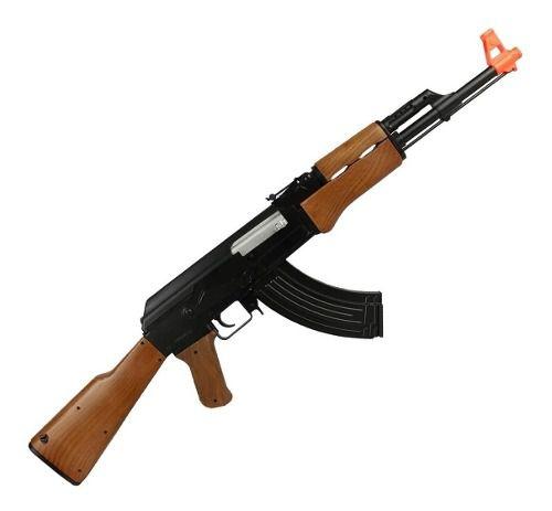 Ak47 Aeg Rifle Airsoft Cyma CM022 6mm + Bandoleira + Óculos