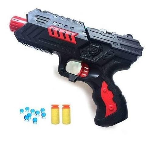 Pistola Toy Nerf Lança Dardos e Esferas De Gel + Munição