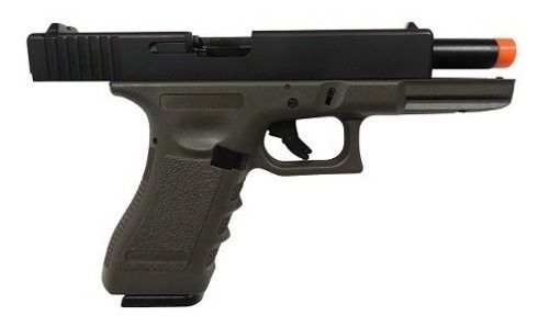 Pistola Airsoft Full Auto Glock R18 Gbb Green Gas Olive 6mm