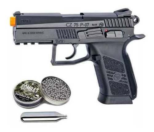 Pistola De Pressão 4.5 Co2 Asg Cz 75 P07 Duty Blowback Preta