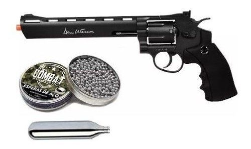 Revolver De Pressão Co2 Asg Dan Wesson 8 Polegadas 4.5mm + Esferas + Co2
