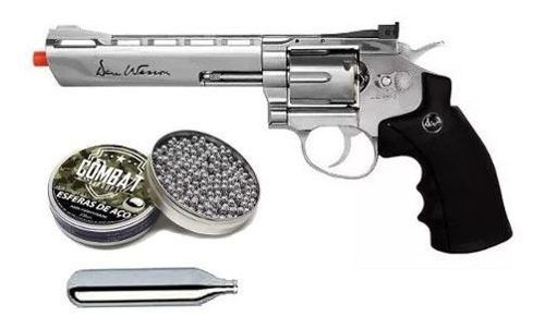 Revolver De Pressão Co2 Asg Dan Wesson 4,5mm 6 Polegadas + Esferas + Co2